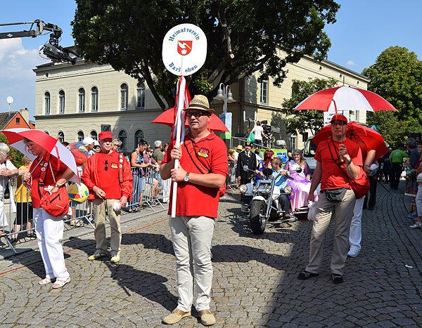 Heimatverein Barleben bei Festumzug am Sachsen-Anhalt Tag dabei
