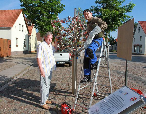 Mehr Platz am Liebesschlösserbaum in Barleben