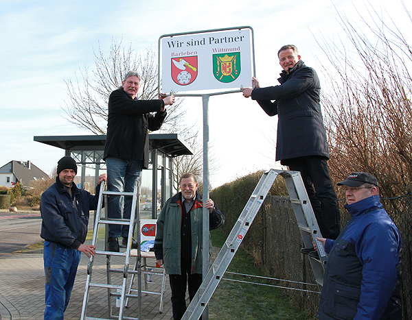 Wittmund bringt neue Partnerschaftsschilder nach Barleben