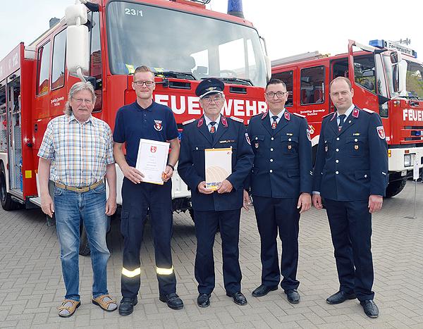 Walter Görges 60 Jahre Mitglied der Freiwilligen Feuerwehr