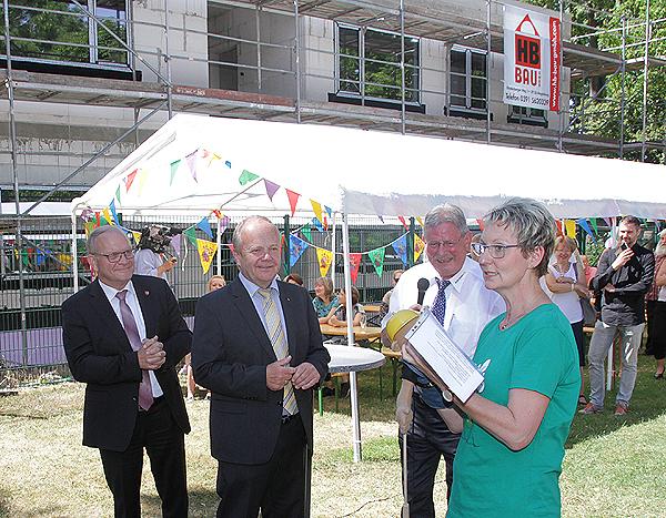 Richtfest Kita Ebendorf - Danksagung Schuchadt