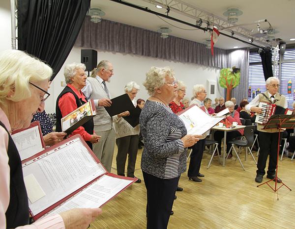 Seniorenweihnachtsfeier Chor