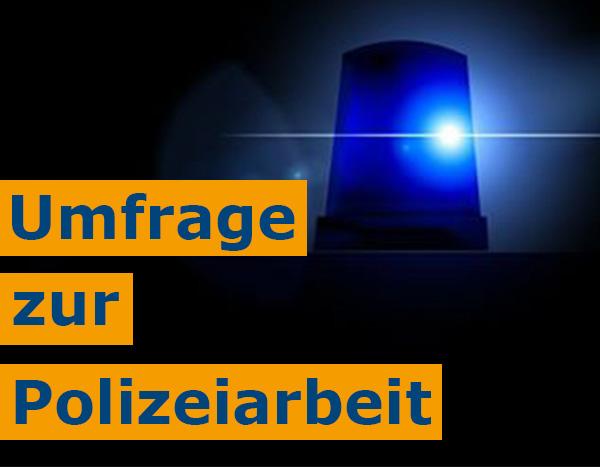 Polizeikommissaranwärter startet Umfrage zur Polizeiarbeit in der Gemeinde