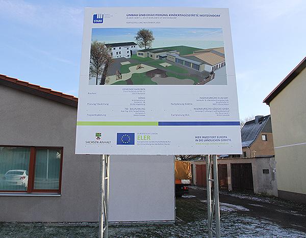 Baustart Kita Meitzendorf Bauschild