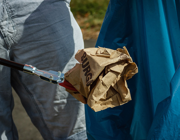 Müll sammeln Aktion