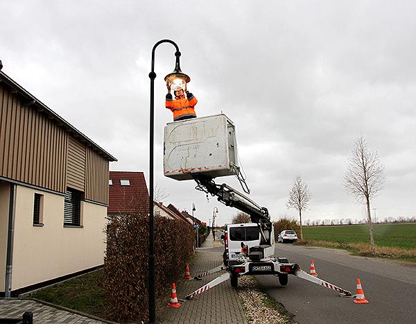 Gemeinde lässt weitere Straßenlampen auf LED-Technik umrüsten