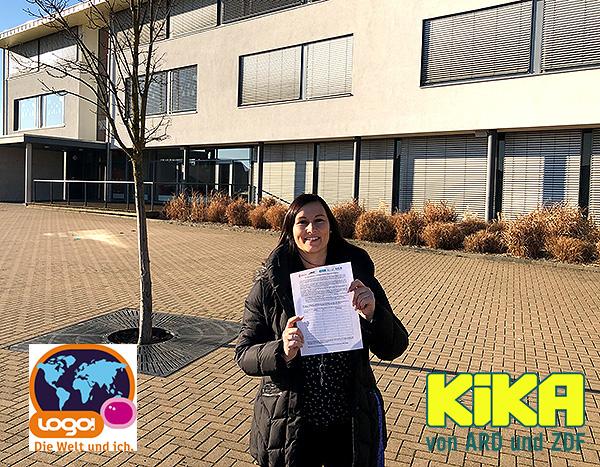 KIKA  logo!  sendet aus Gemeinschaftsschule Barleben