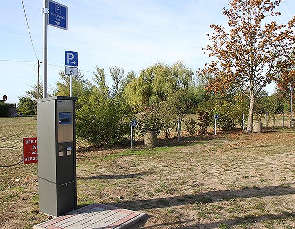 Parkscheinautomaten am Jersleber See aufgestellt