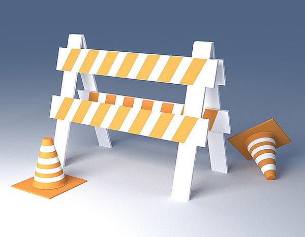 Baustelle Straßensperrung Sperrung