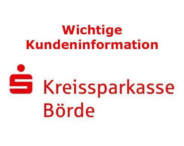 Kundeninformation Kreissparkasse Börde
