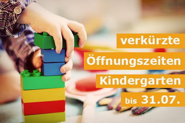 Weiterhin verkürzte Öffnungszeiten im Kindergarten