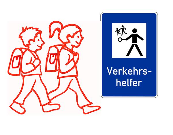 Grafik Verkehrshelfer Schulkinder