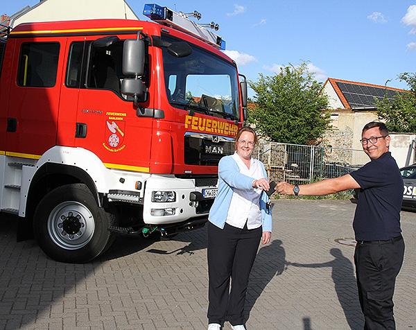 Neues Tanklöschfahrzeug für die Barleber Feuerwehr