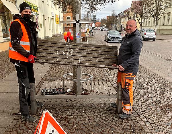 Öffentliche Sitzbänke werden wieder flottgemacht