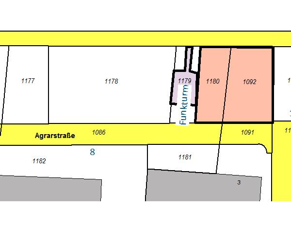 Grundstück Agrarstraße Eigenheimbau Karte
