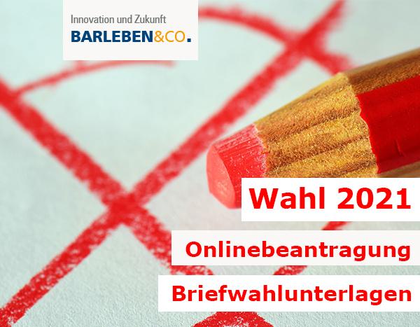 Landtagswahl 2021 - Beantragung Briefwahlunterlagen