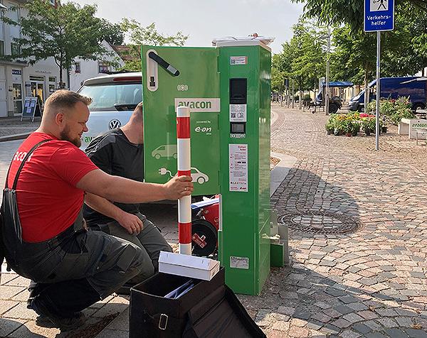 Gemeinde Barleben und Avacon Netz GmbH nehmen neue Ladesäule in Betrieb