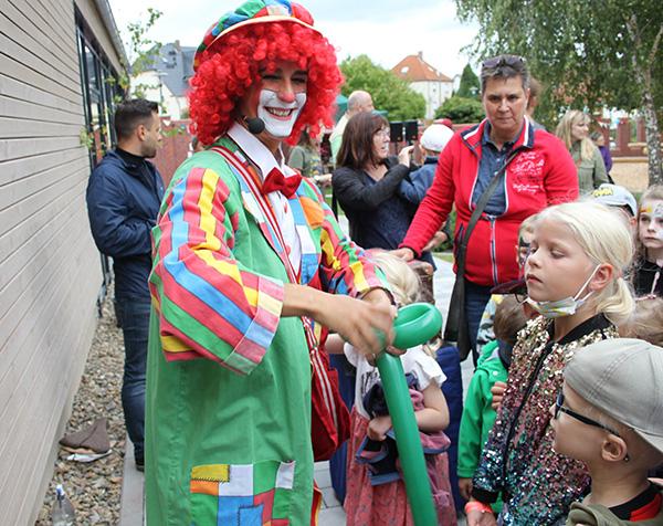 Einweihung Kita Meitzendorf Clown